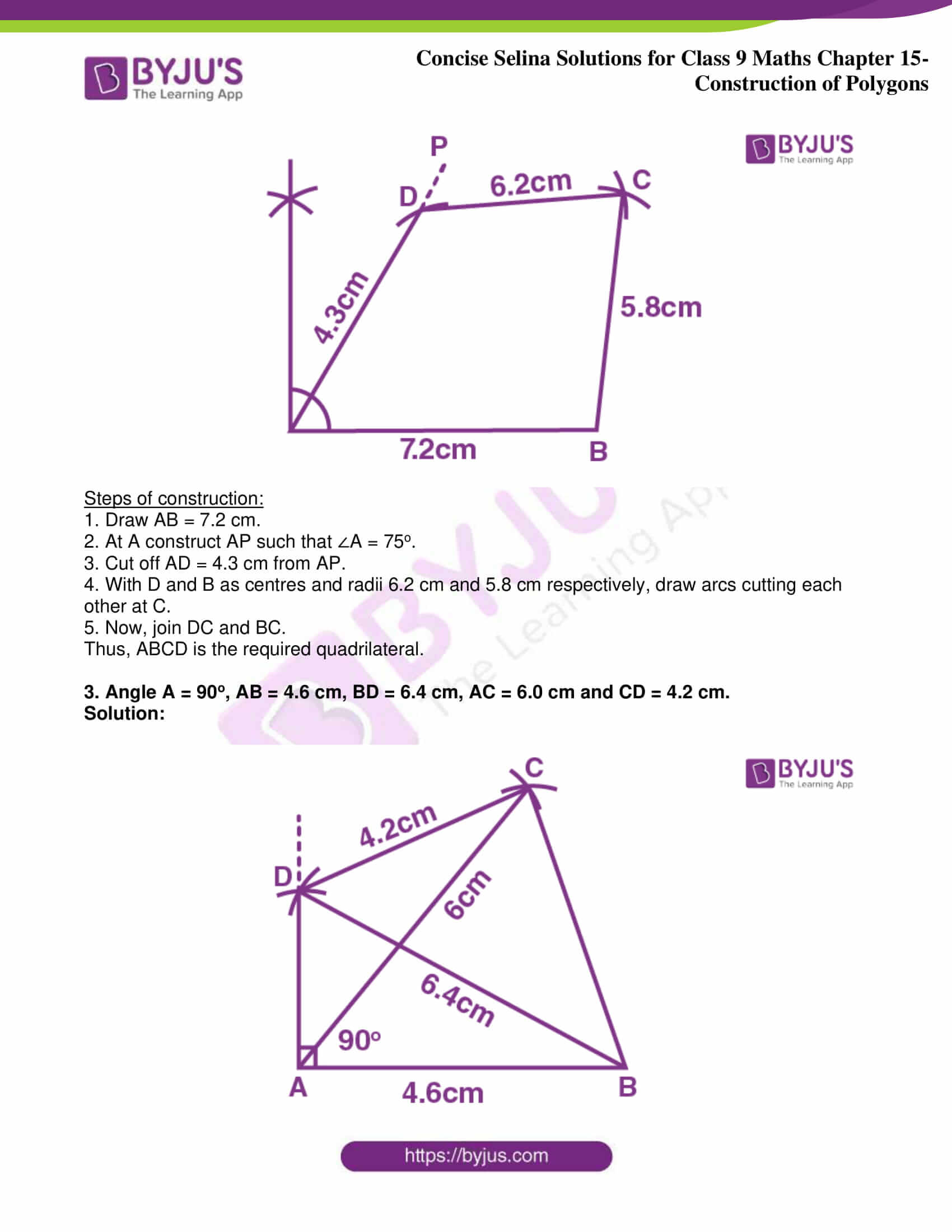 icse class 9 jun8 maths selina solutions chapter 15 construction of polygons 02