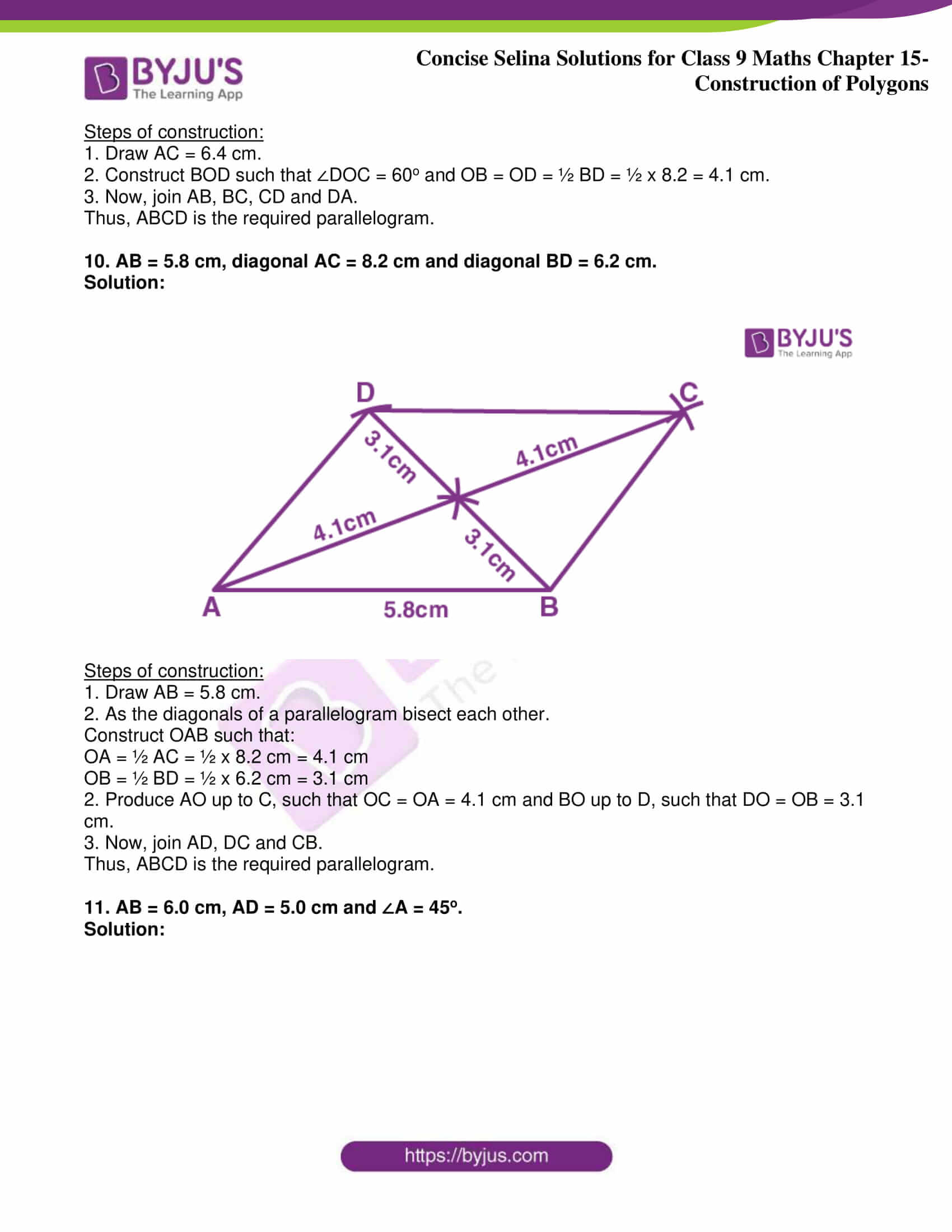 icse class 9 jun8 maths selina solutions chapter 15 construction of polygons 07