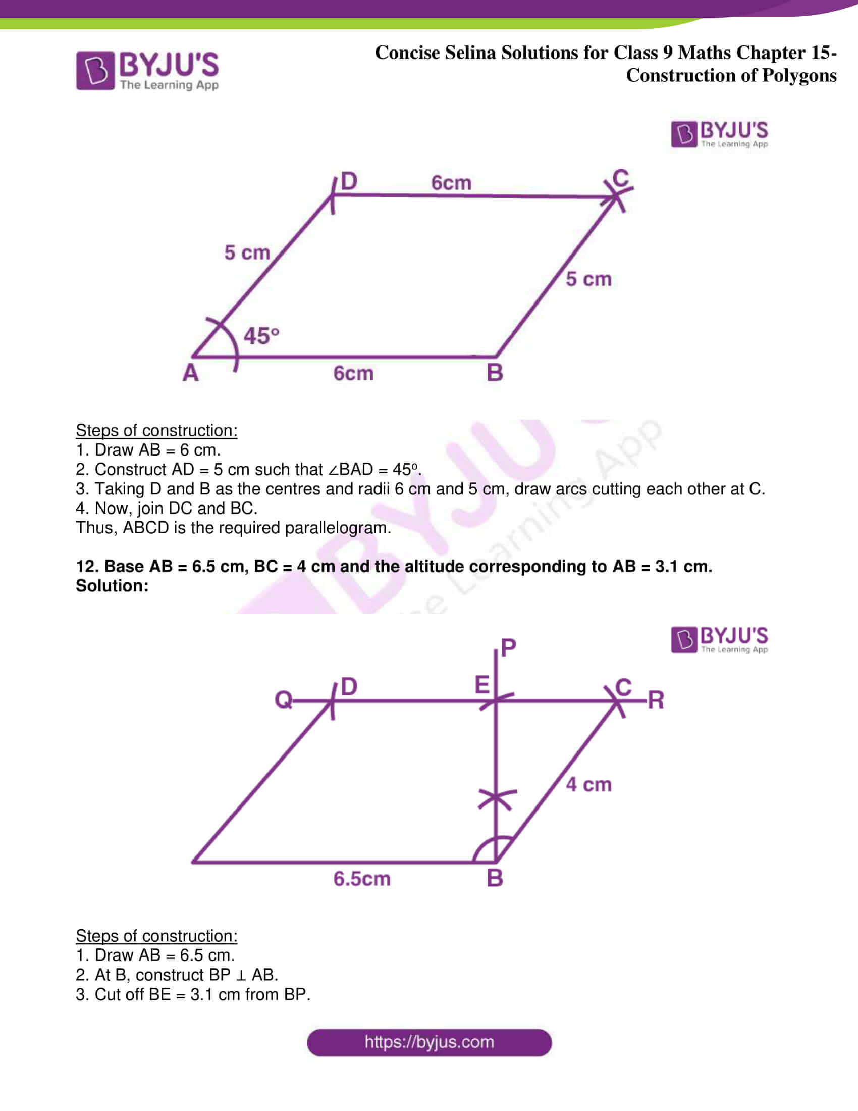 icse class 9 jun8 maths selina solutions chapter 15 construction of polygons 08