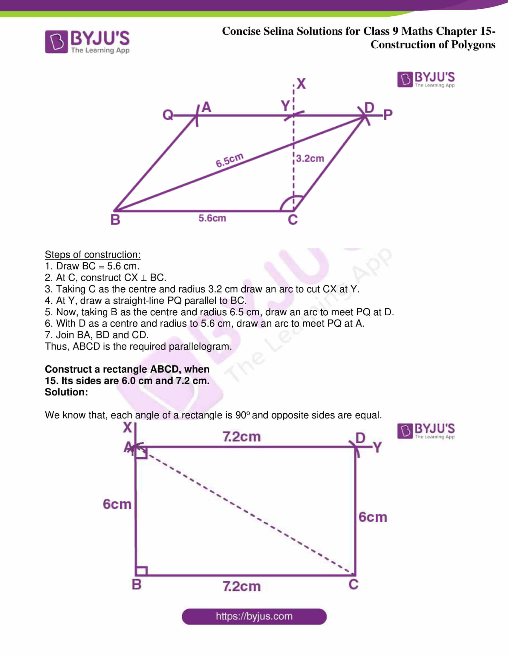 icse class 9 jun8 maths selina solutions chapter 15 construction of polygons 10