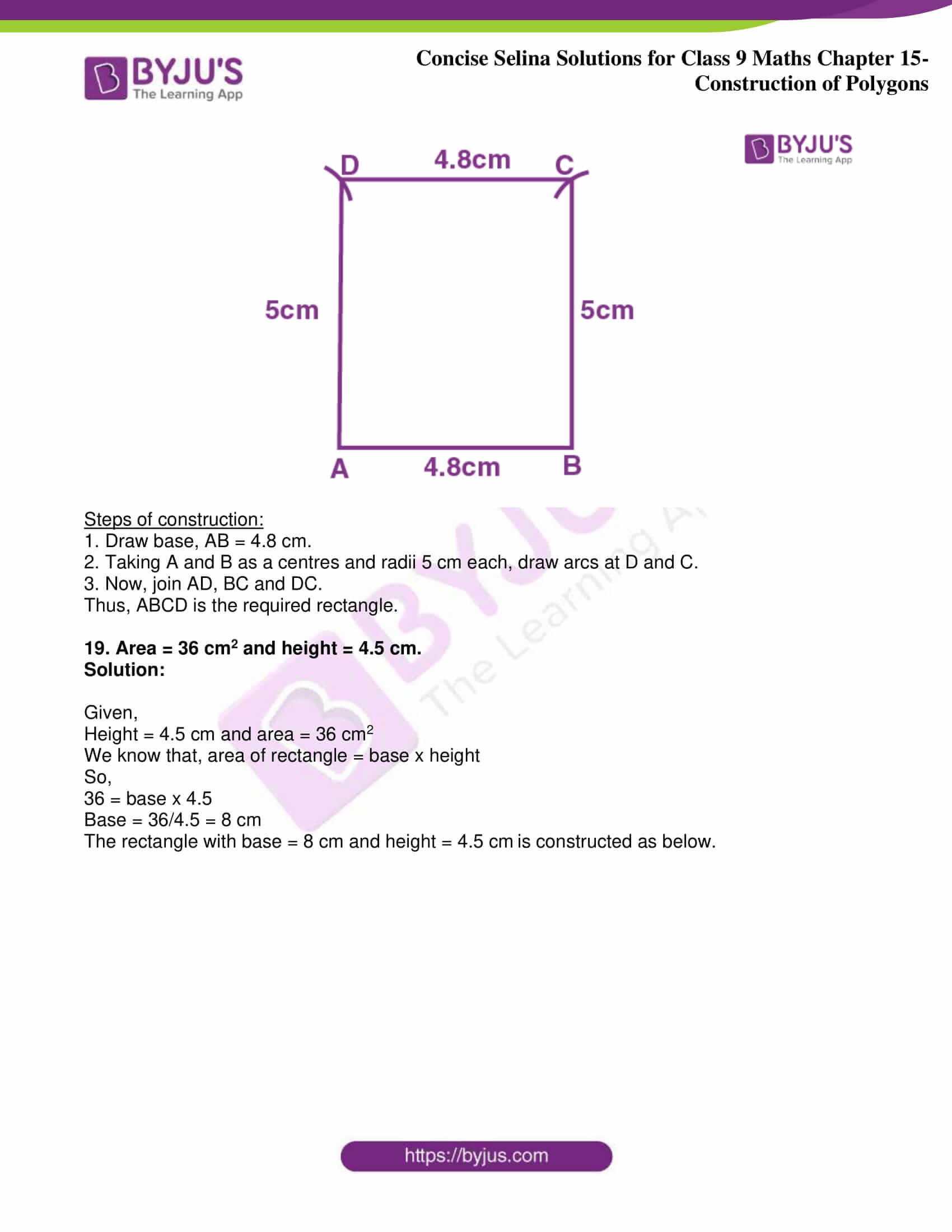 icse class 9 jun8 maths selina solutions chapter 15 construction of polygons 13