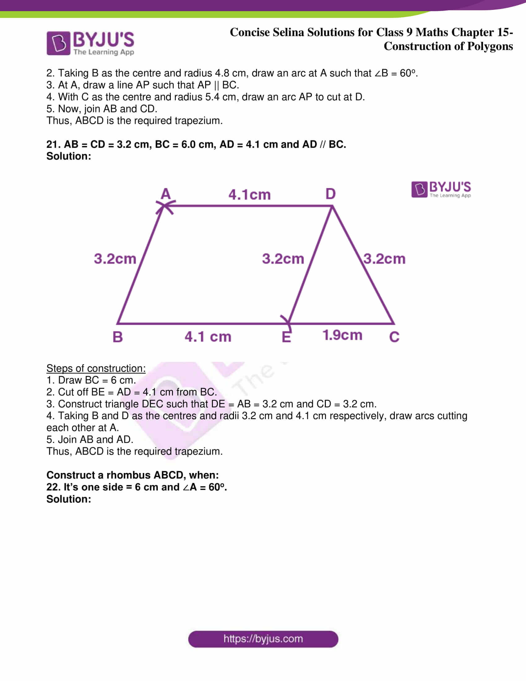 icse class 9 jun8 maths selina solutions chapter 15 construction of polygons 15