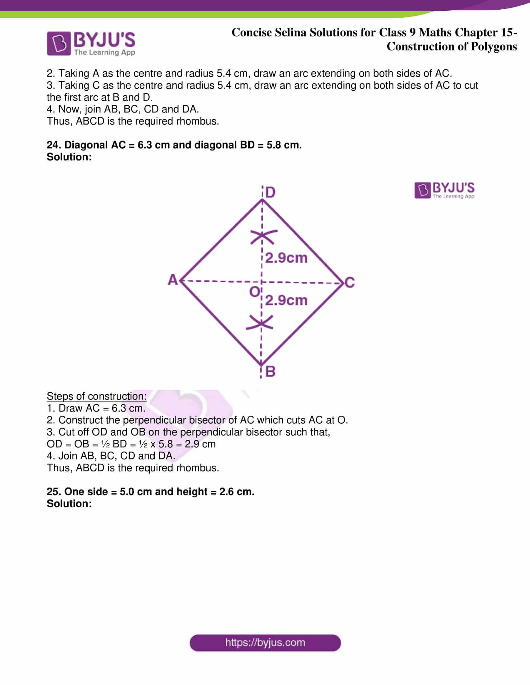 icse class 9 jun8 maths selina solutions chapter 15 construction of polygons 17