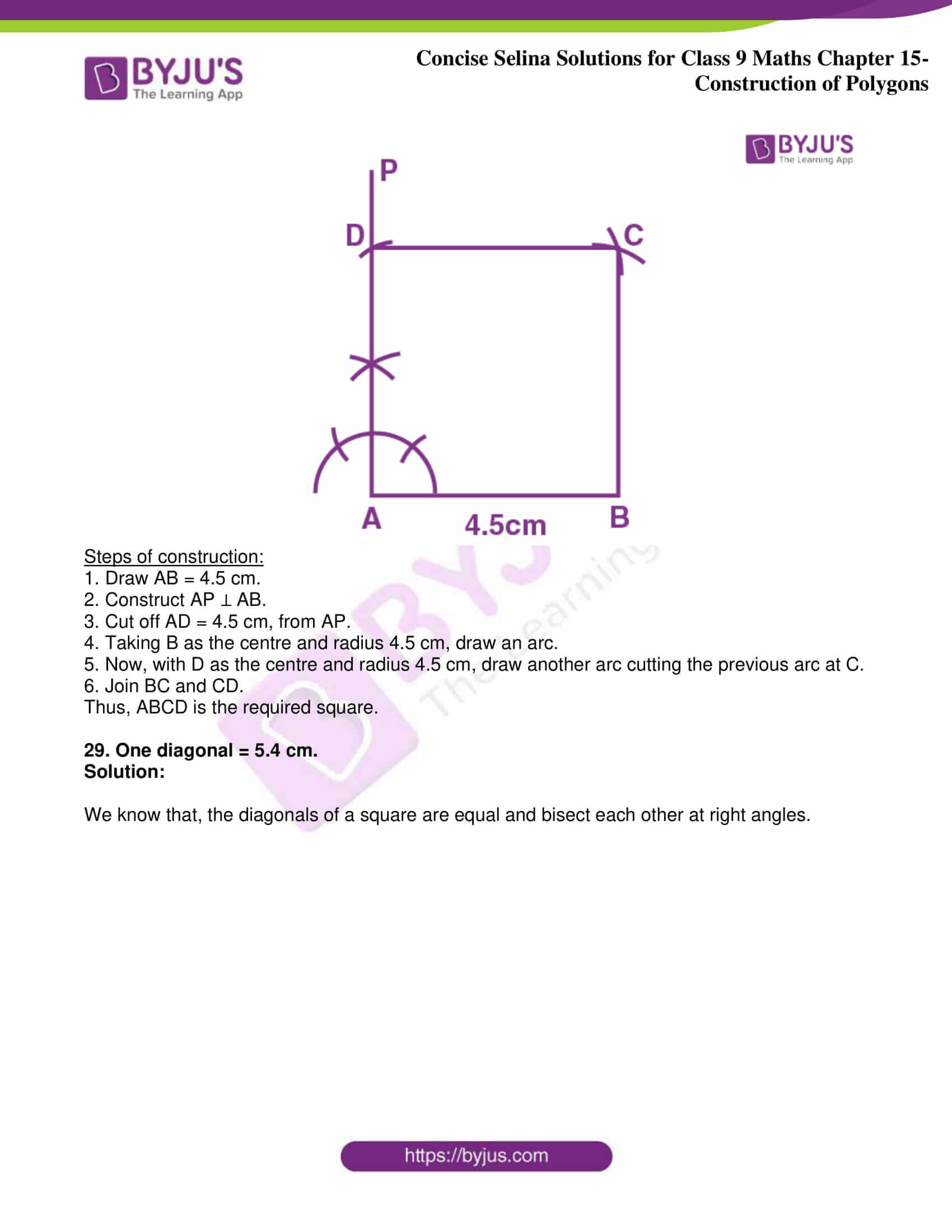 icse class 9 jun8 maths selina solutions chapter 15 construction of polygons 20