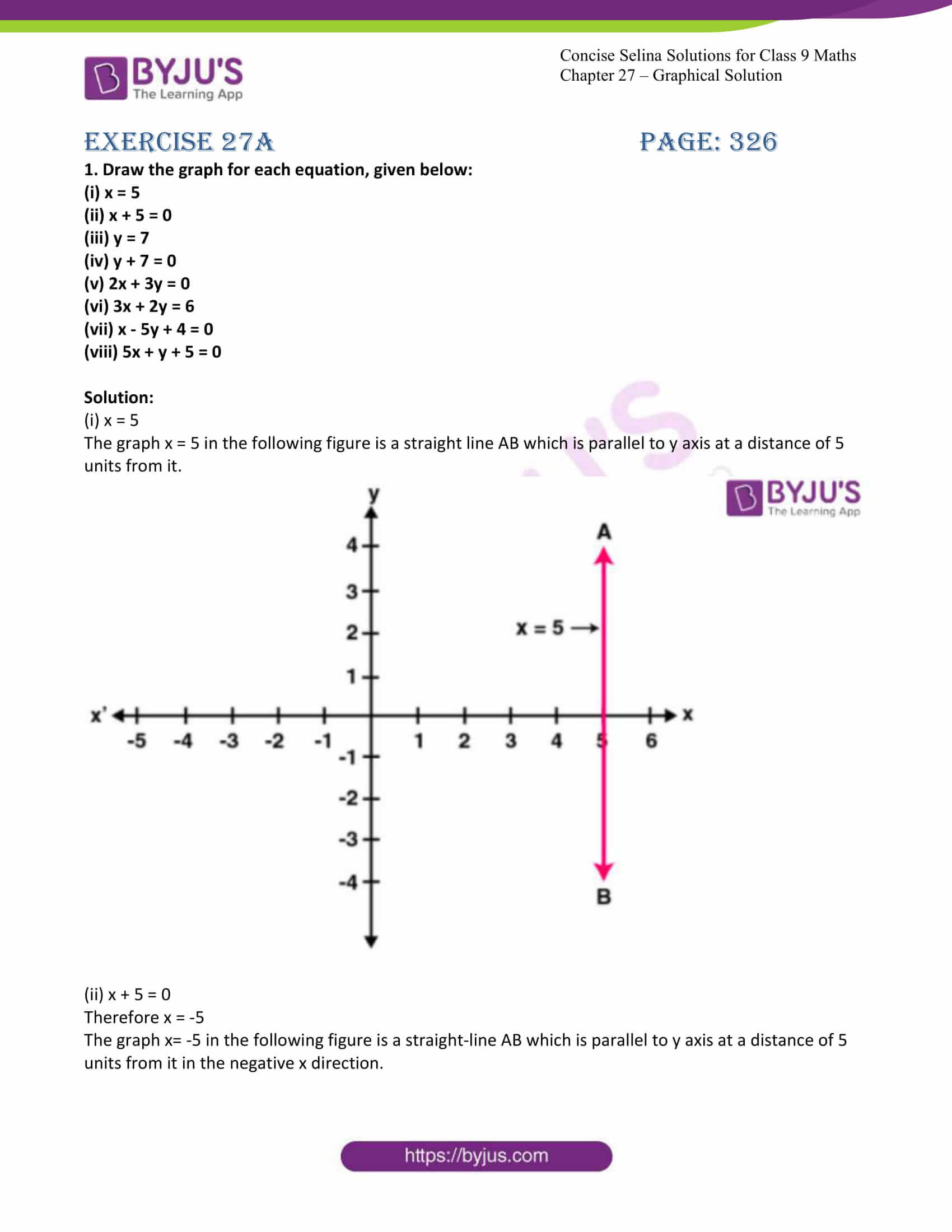 icse class 9 jun8 maths selina solutions chapter 27 graphical solutions 01