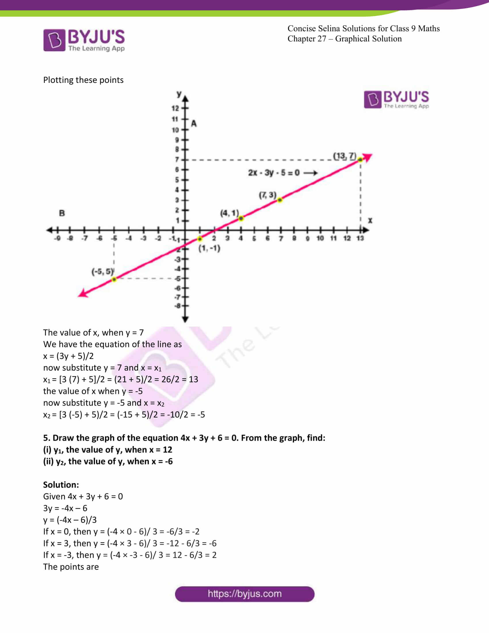 icse class 9 jun8 maths selina solutions chapter 27 graphical solutions 12