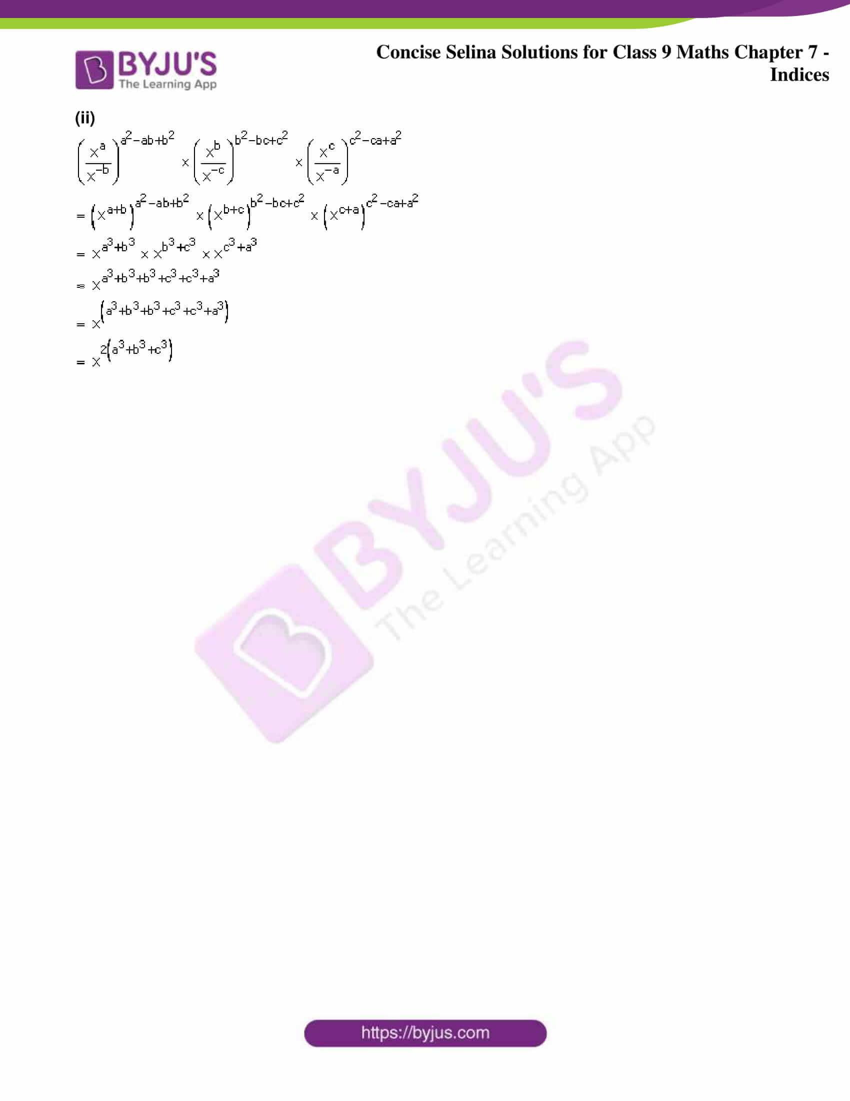 icse class 9 jun8 maths selina solutions chapter 7 indices 08