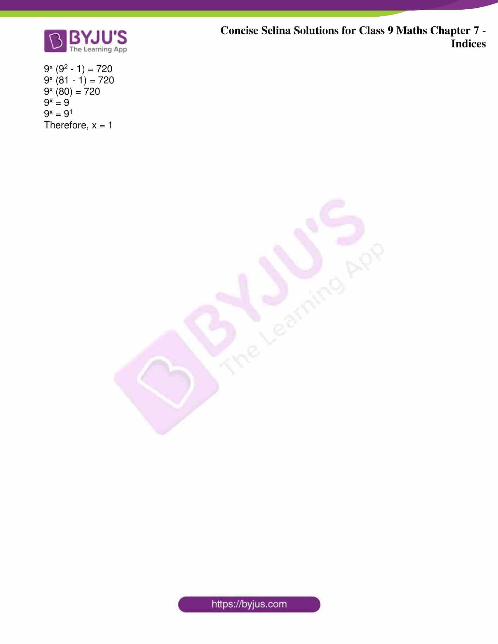 icse class 9 jun8 maths selina solutions chapter 7 indices 20