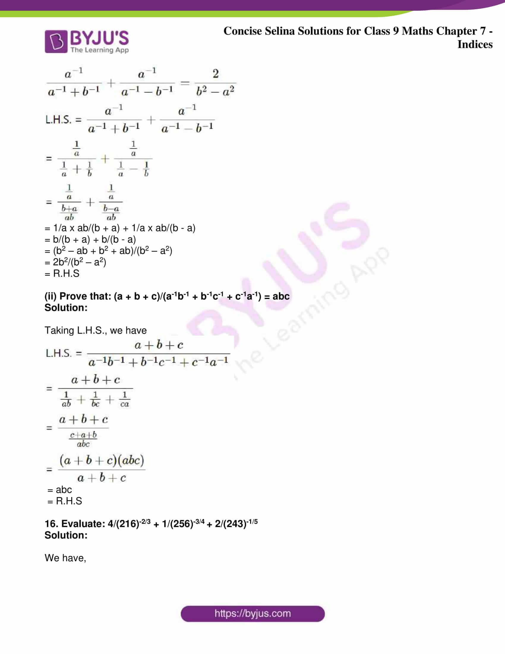 icse class 9 jun8 maths selina solutions chapter 7 indices 28