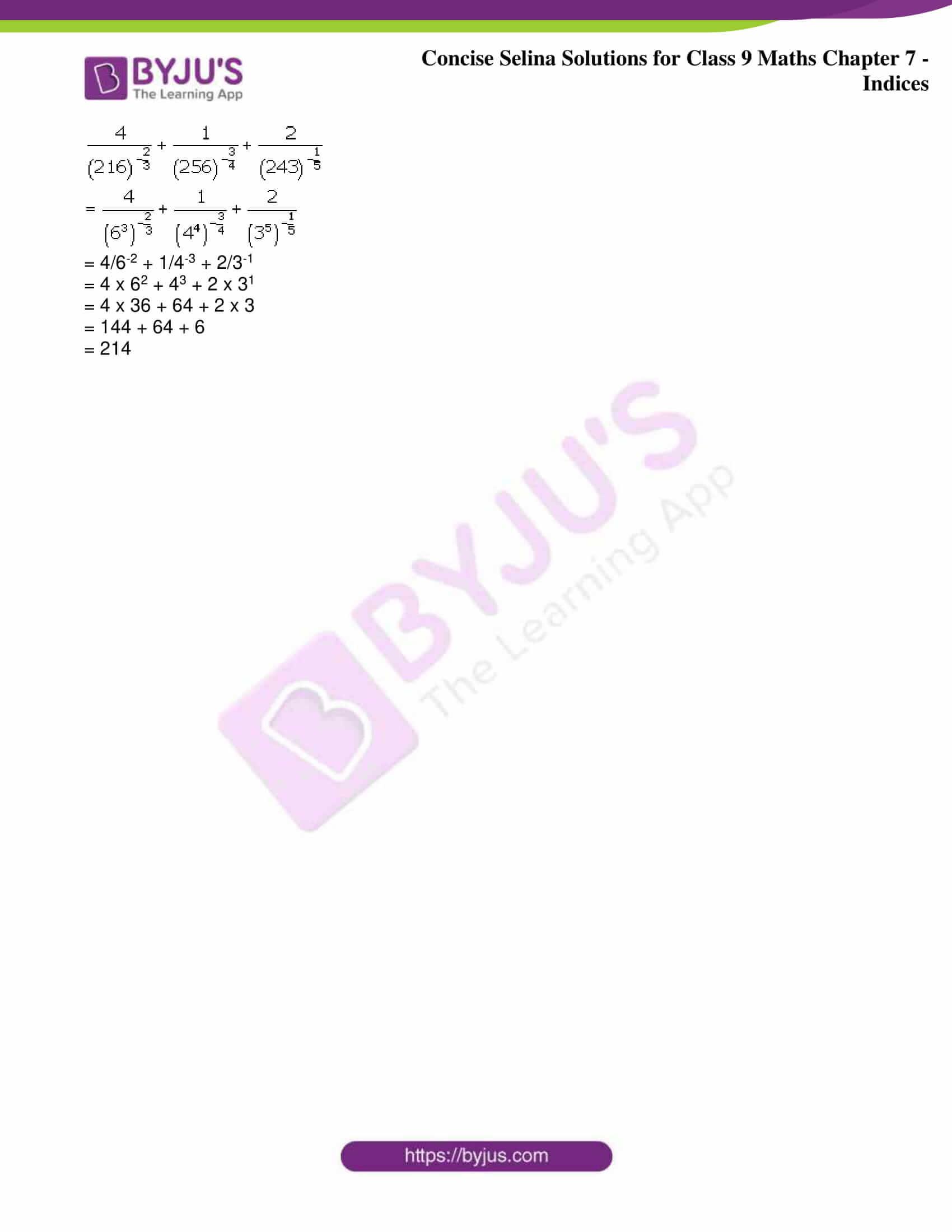 icse class 9 jun8 maths selina solutions chapter 7 indices 29