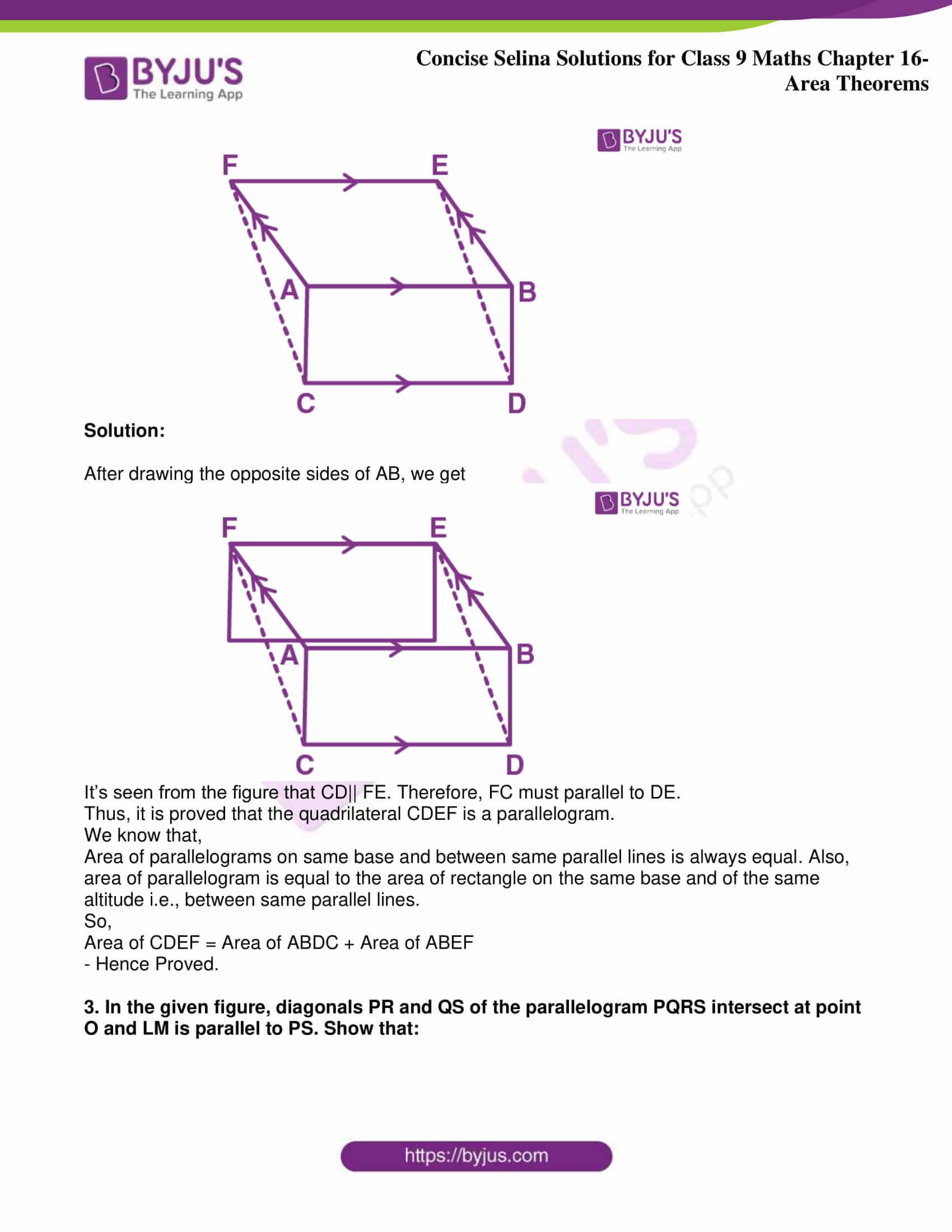 icse class 9 jun9 maths selina solutions chapter 16 area theorems 02