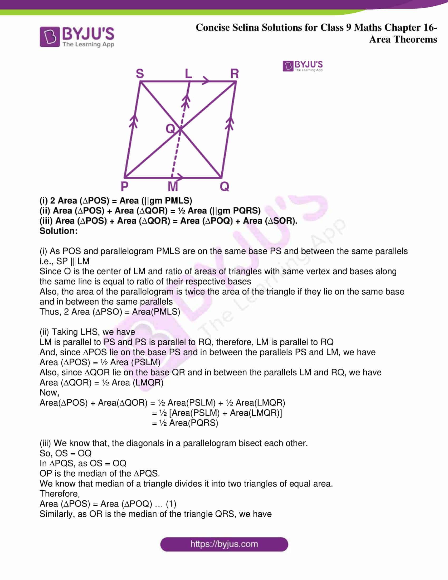 icse class 9 jun9 maths selina solutions chapter 16 area theorems 03