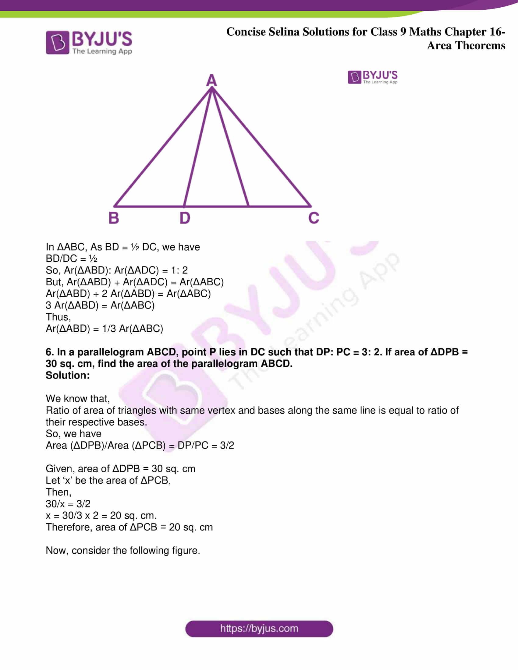 icse class 9 jun9 maths selina solutions chapter 16 area theorems 21