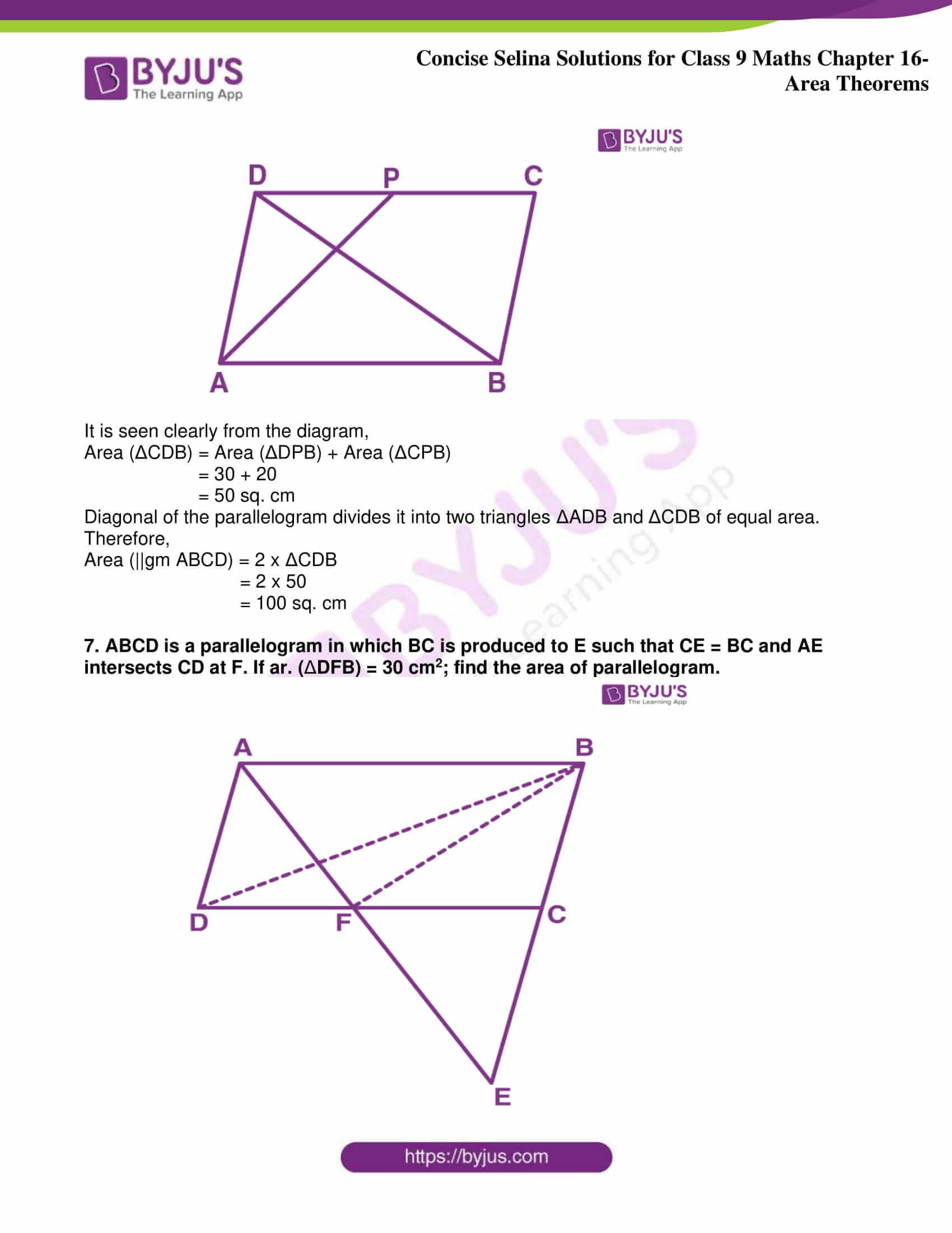 icse class 9 jun9 maths selina solutions chapter 16 area theorems 22
