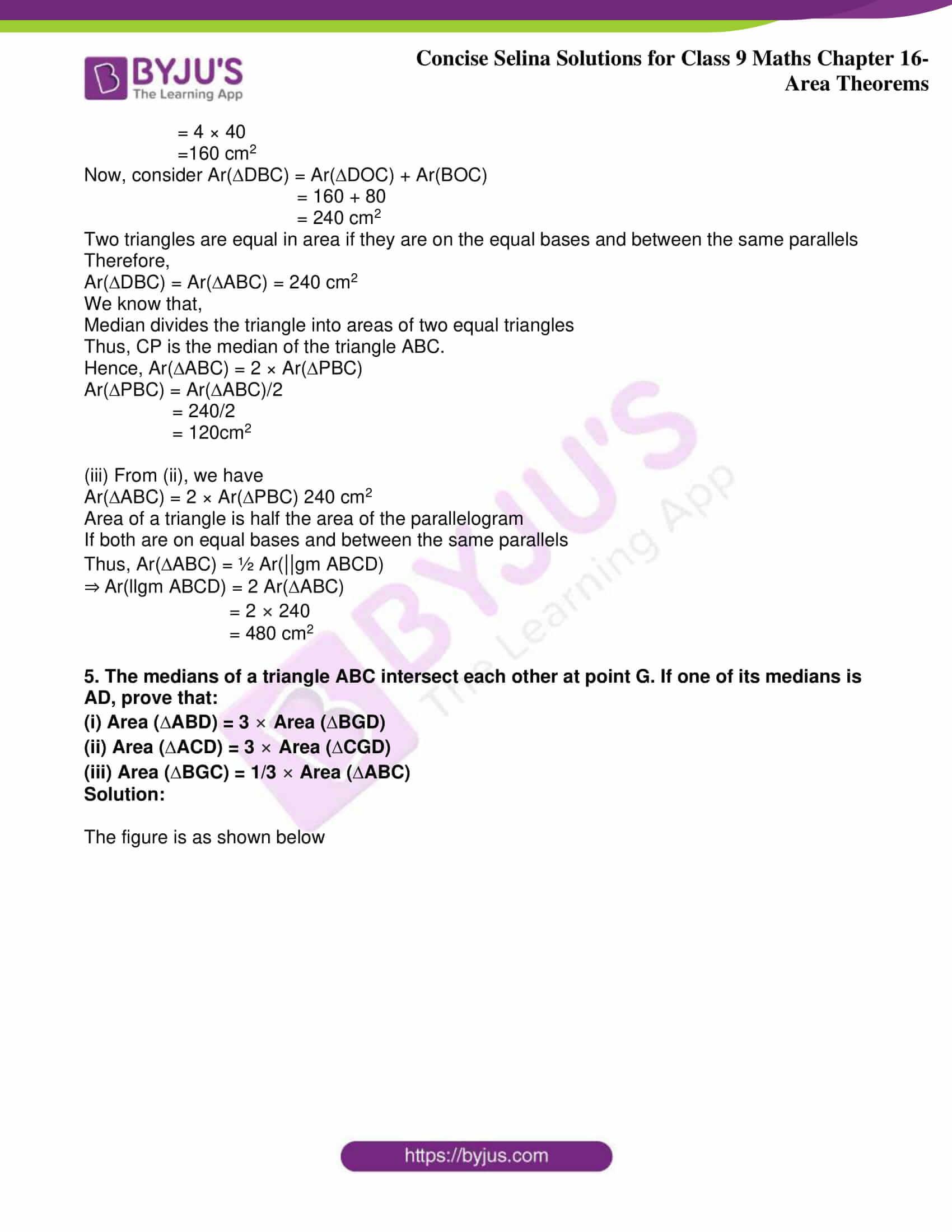 icse class 9 jun9 maths selina solutions chapter 16 area theorems 29