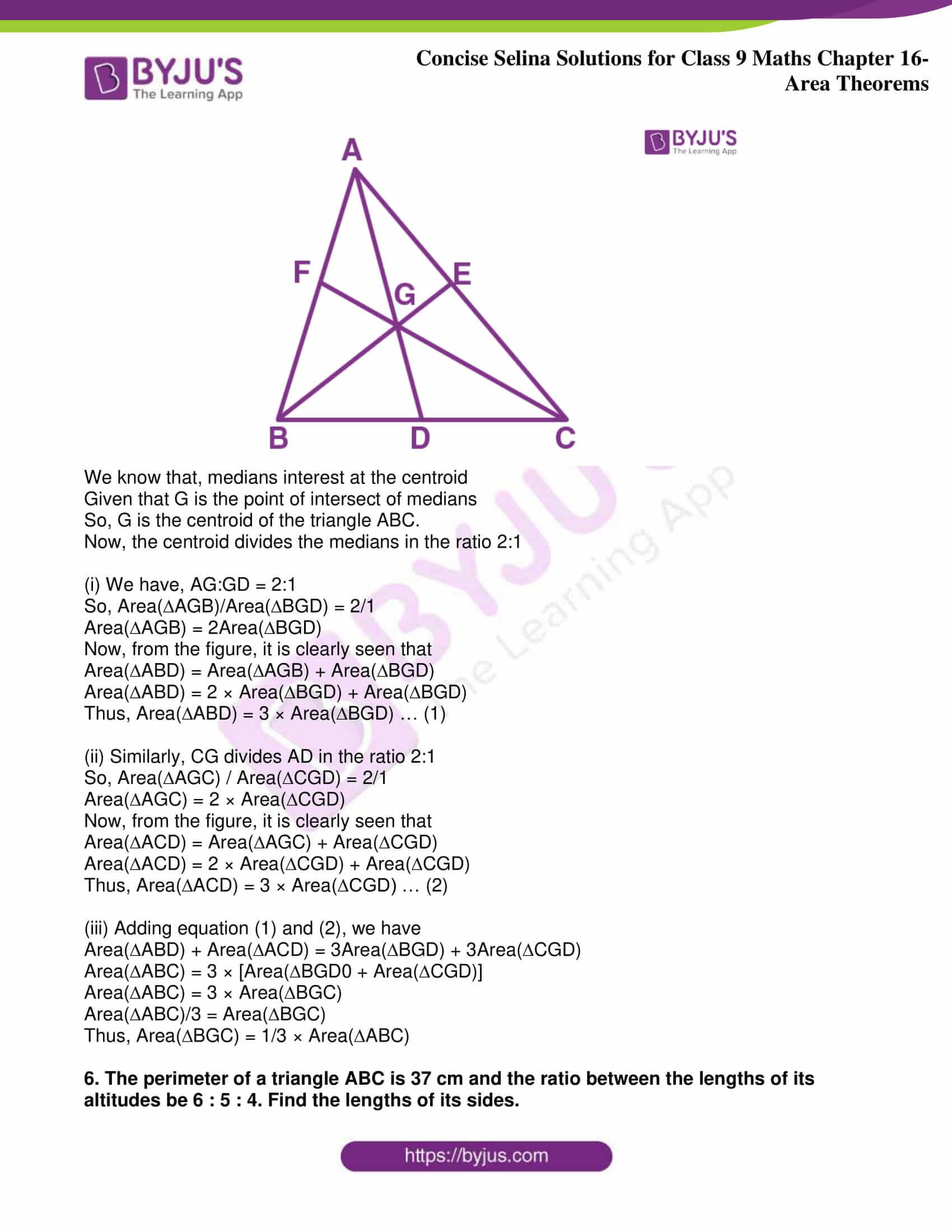 icse class 9 jun9 maths selina solutions chapter 16 area theorems 30
