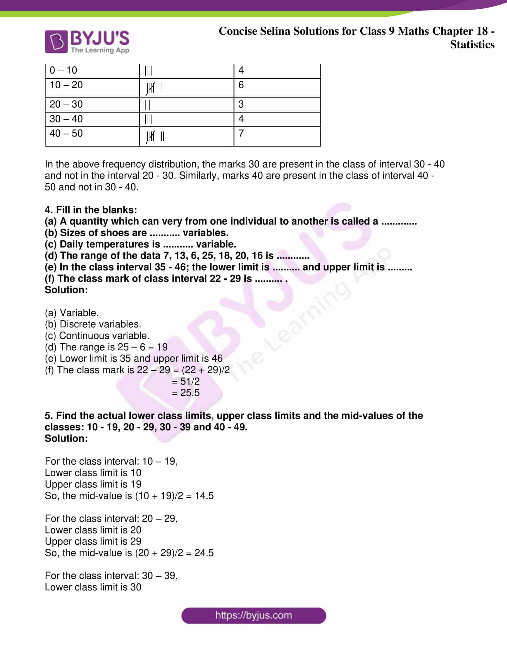 icse class 9 jun9 maths selina solutions chapter 18 statistics 02