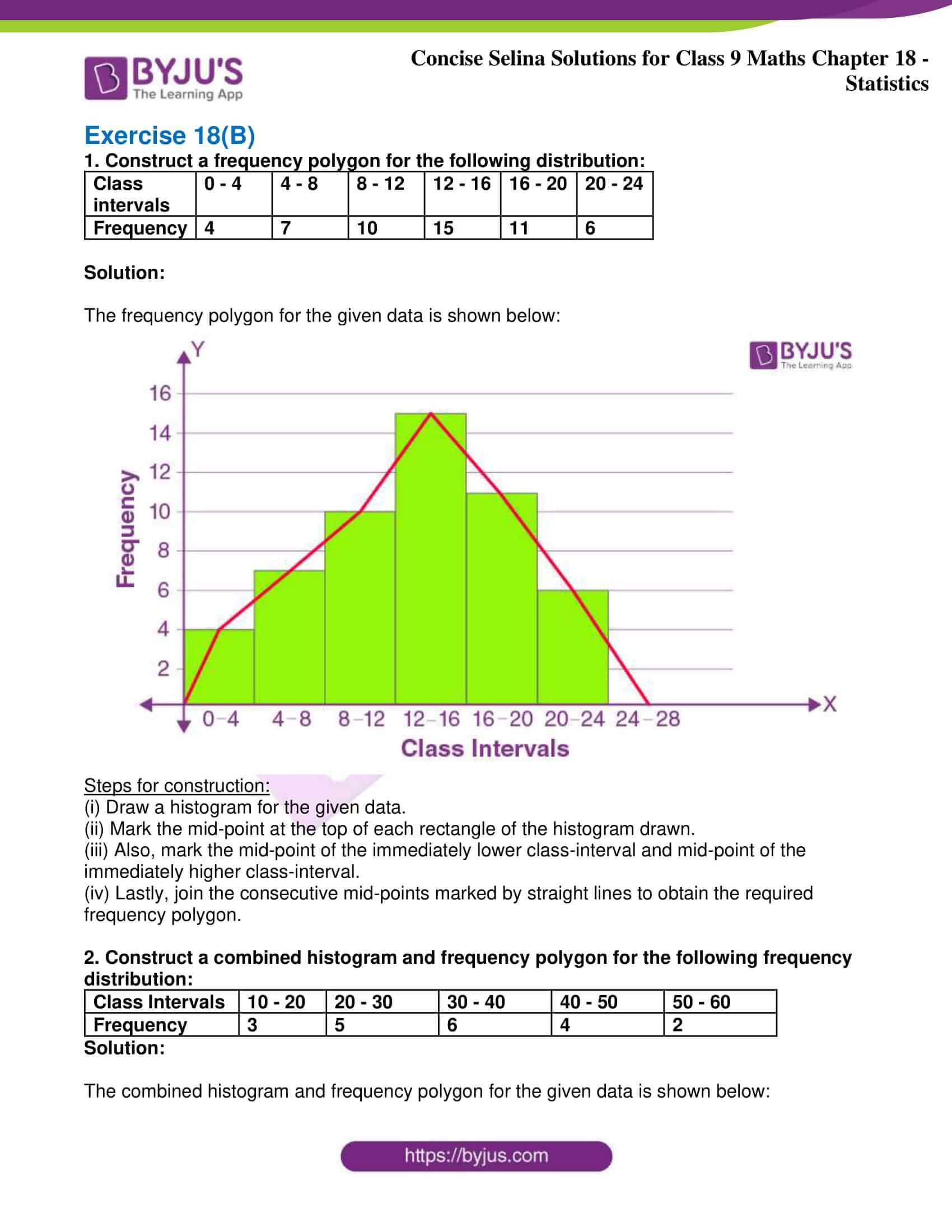 icse class 9 jun9 maths selina solutions chapter 18 statistics 08