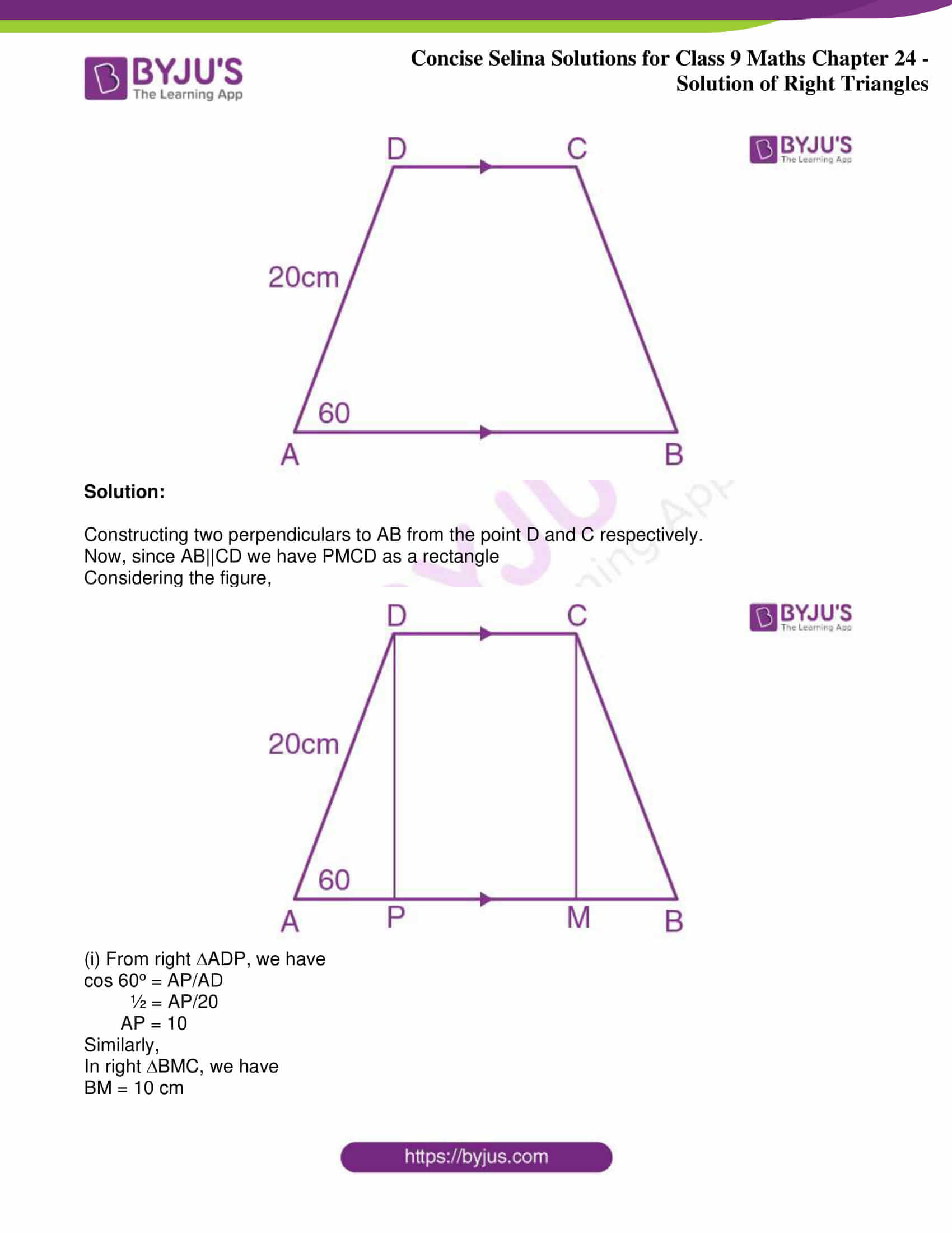 icse class 9 jun9 maths selina solutions chapter 24 solution of right triangles 09