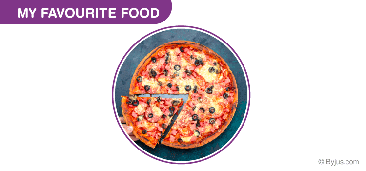 My Favourite Food Pizza Essay for Class 1