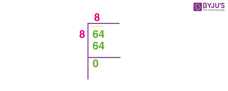 Square root of 64
