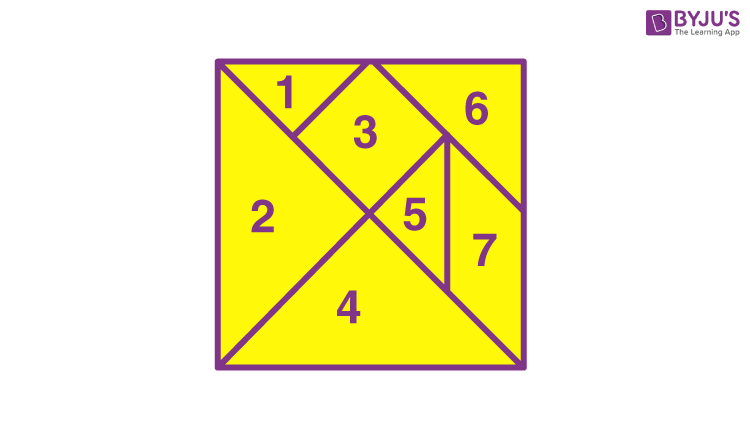Tangram with 7 pieces