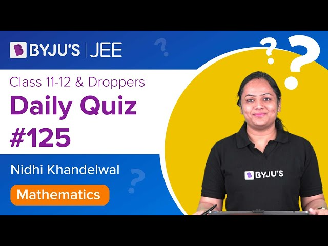 Daily Quiz 125 Maths BYJUS