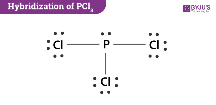 hybridization of central atom in pcl3