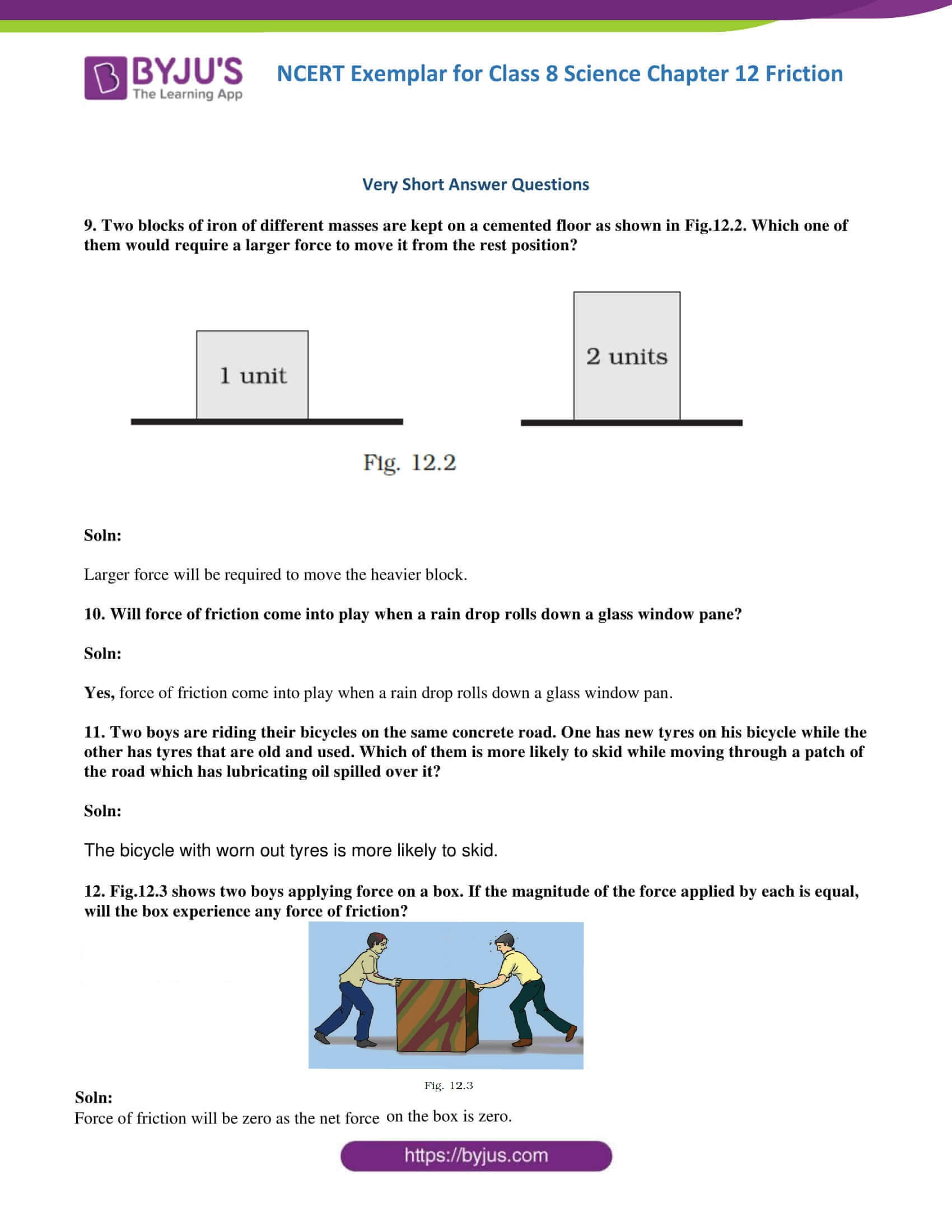 NCERT Exemplar solution class 8 Science Chapter 12 part 4