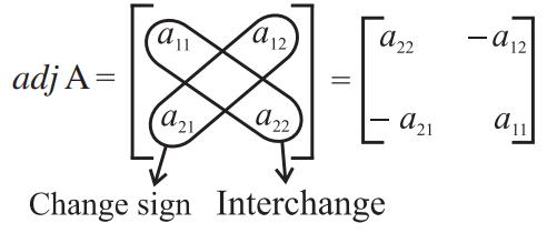 Adjoint of 2x2 matrix