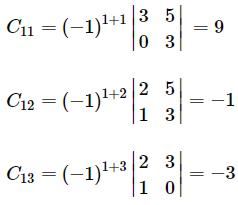 Adjoint of a matrix example 2.1