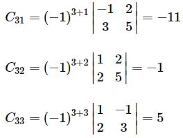 Adjoint of a matrix example 2.3