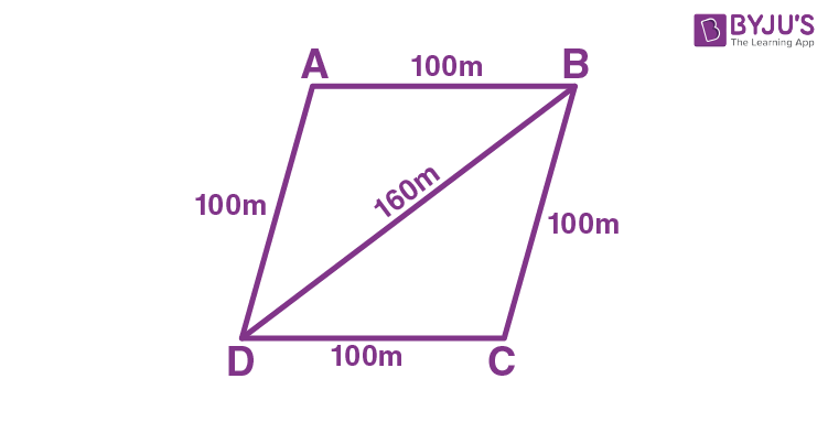 Application of Heron's Formula in Finding Areas of Quadrilaterals - Example 1