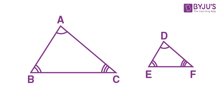 Conditions for Similarity of Two Triangles