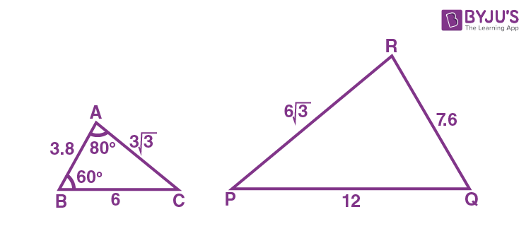 Criteria for Similarity of Triangles Example 1