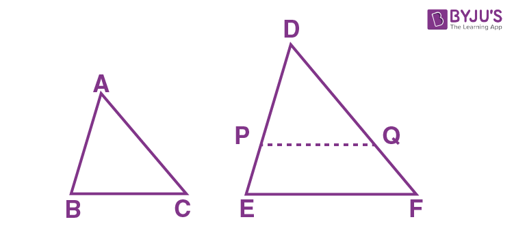 Criteria for Similarity of Triangles