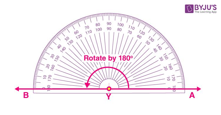 Degree measure of 180 degrees