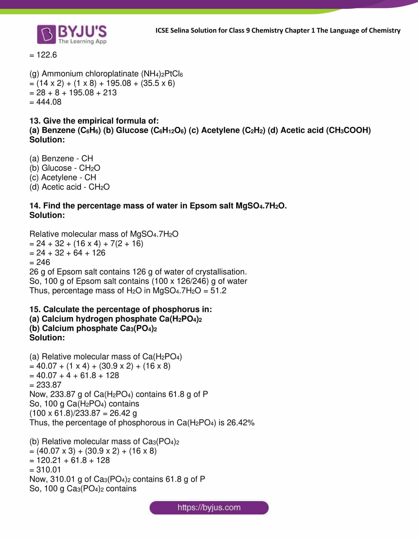 icse class 9 chemistry jul22 selina solutions chapter 1 the language of chemistry 17