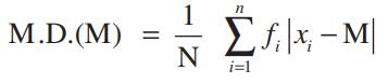 Mean deviation about median formula 1