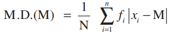 Mean deviation about median formula 2