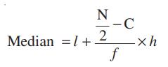 Mean deviation about median formula