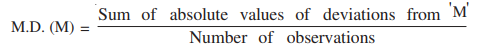 Mean deviation about median