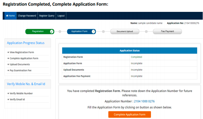 NEET Registration completed