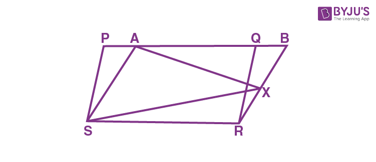 Parallelograms on the same Base and between the same Parallels  - 3