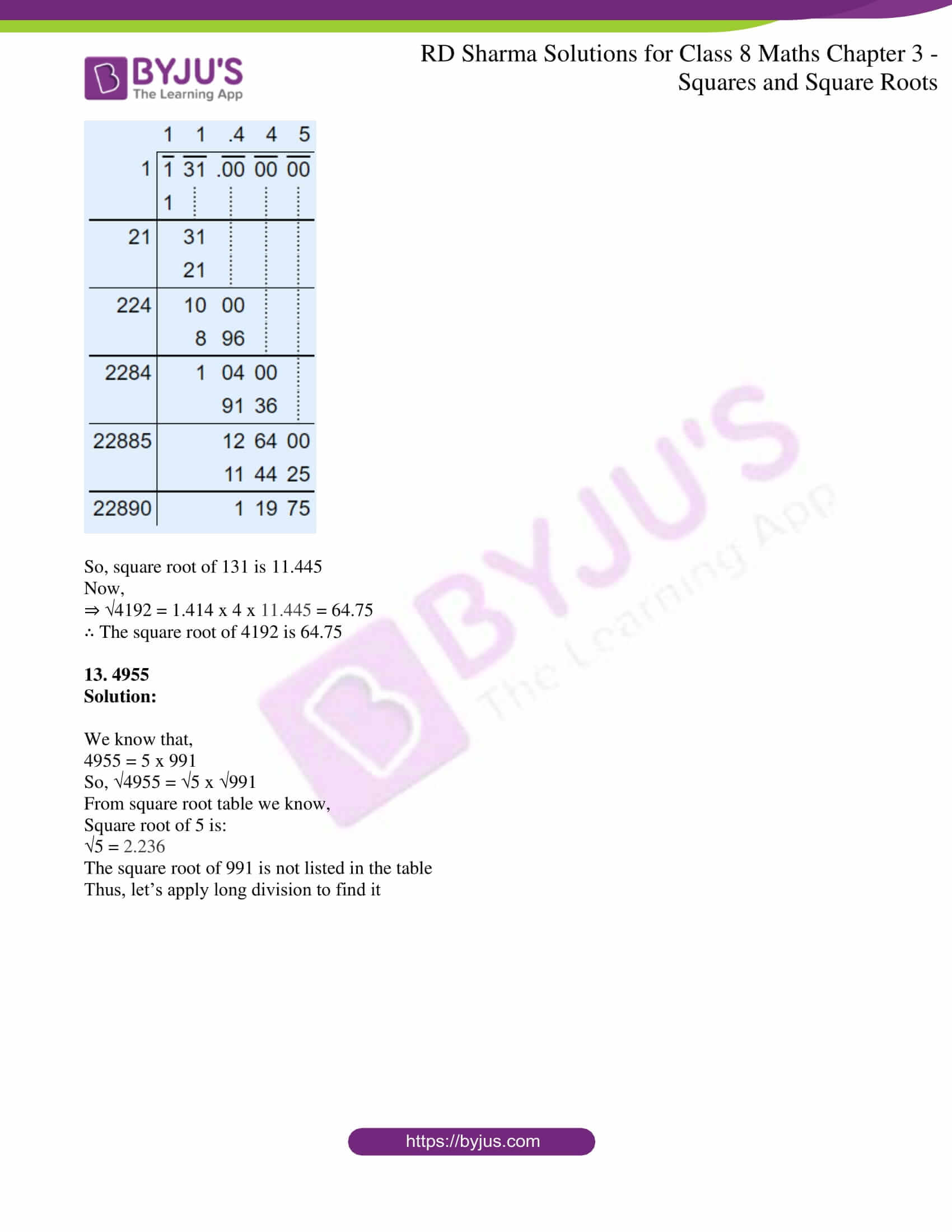 rd sharma solutions jul26 class 8 maths chapter 3 squares and square roots exercise 3 9 5
