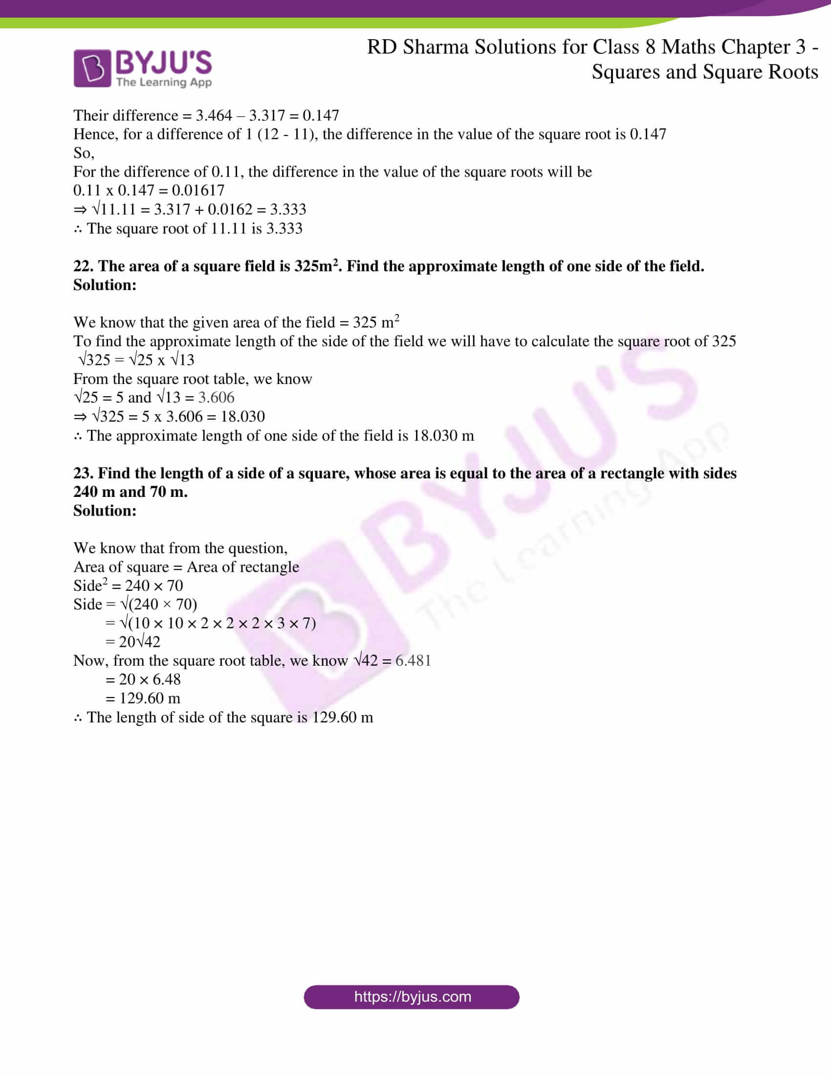 rd sharma solutions jul26 class 8 maths chapter 3 squares and square roots exercise 3 9 9