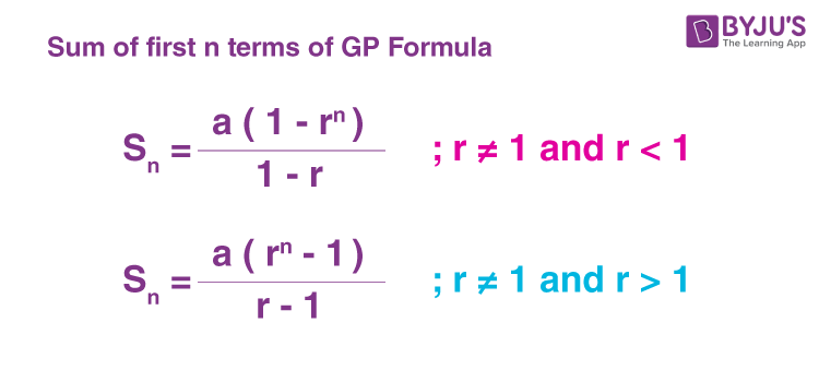 Sum to n terms of a G.P