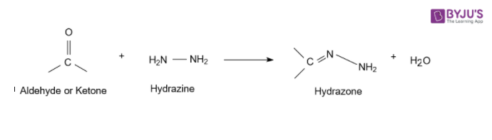 Acetaldehyde reacts with Hydrazine