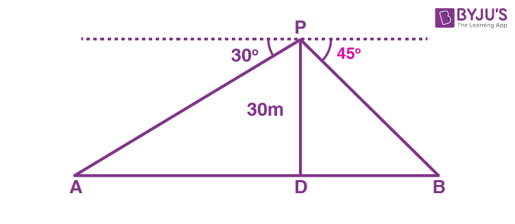 Class 10 Maths Chapter 9 Some Applications of Trigonometry MCQs 17A