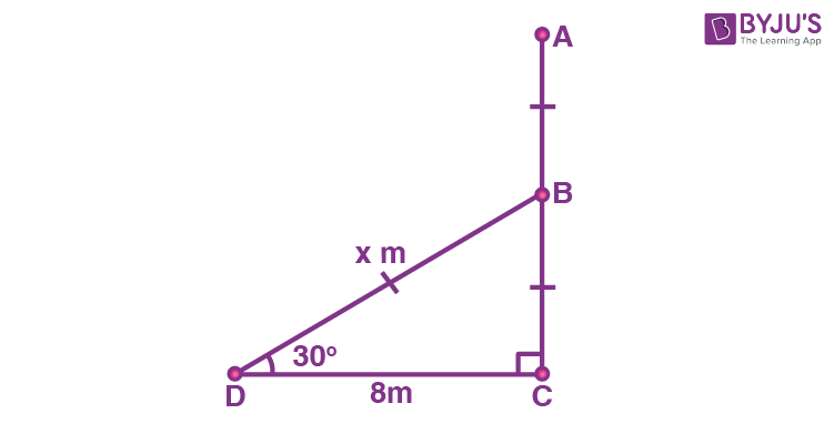 Class 10 Maths Chapter 9 Some Applications of Trigonometry MCQs 19A